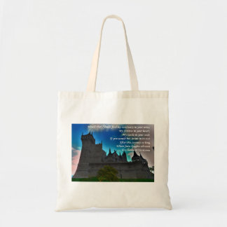 Castle Sanctuary Poetry Budget Tote Bag