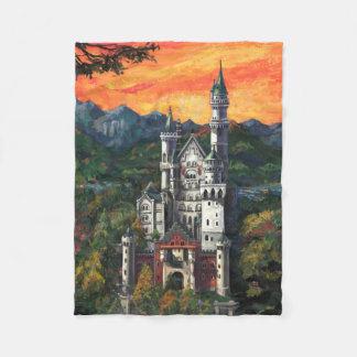 Castle Schloss Neuschwanstein Fleece Blanket