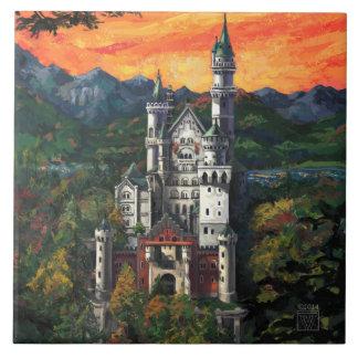 Castle Schloss Neuschwanstein Tile