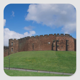 Castle showing half moon tower, Chester, Square Sticker