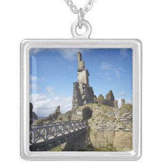 Castle Sinclair Girnigoe, Wick, Caithness, Square Pendant Necklace