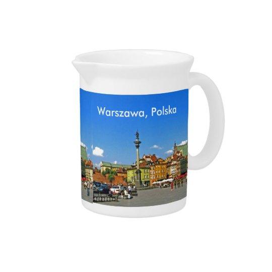 Castle Square, Warsaw, Poland Beverage Pitcher