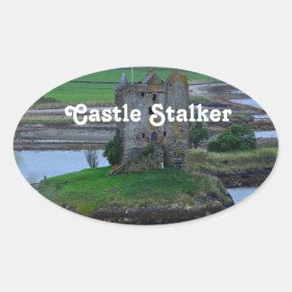 Castle Stalker Oval Sticker
