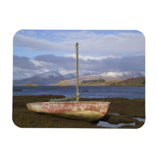 Castle Stalker with fishing boat in the Rectangular Photo Magnet