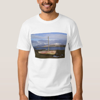Castle Stalker with fishing boat in the T Shirt