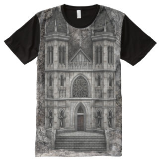 Castle Stone Wall All-Over Print T-shirt
