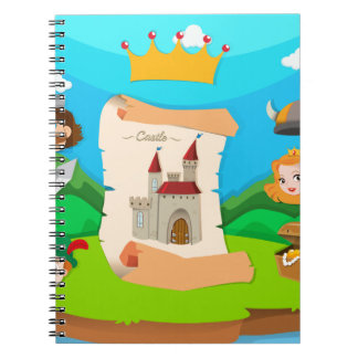 Castle theme with king and princess notebook