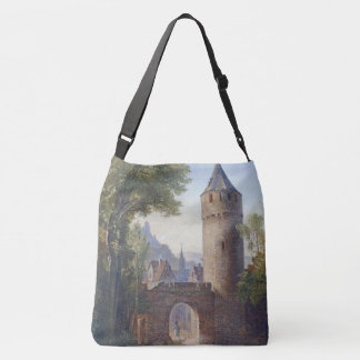Castle Tower Medieval Town Gate Wall Tote Bag