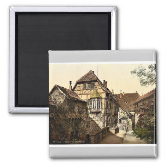 Castle yard, Wartburg, Thuringia, Germany rare Pho Square Magnet