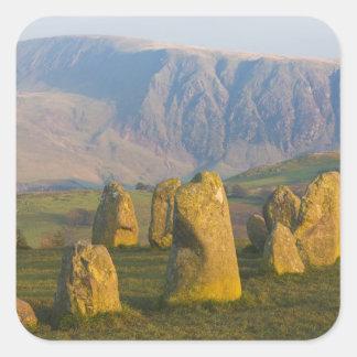 Castlerigg Stone Circle, Lake District, Cumbria, Square Sticker