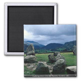Castlerigg stone circle near Keswick, Cumbria, Lak Refrigerator Magnet