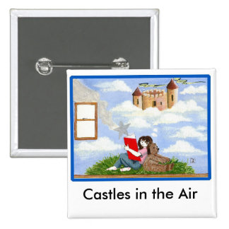 Castles in the Air Pins 2 Inch Square Button