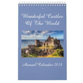 Castles Of The World Annual Calendar 2018