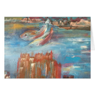 Castles Under the Sea greeting card
