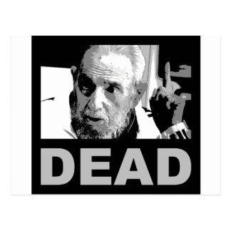 Castro dead (black & white) postcard