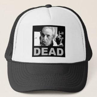Castro dead (black & white) trucker hat