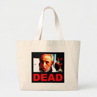 Castro dead (real colors) large tote bag