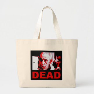 Castro dead (red) large tote bag