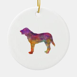 Castro Laboreiro Dog in watercolor Ceramic Ornament