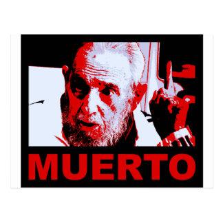 Castro muerto (rojo) postcard