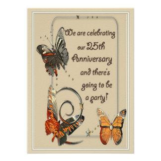 Casual 25th Anniversary Invitations