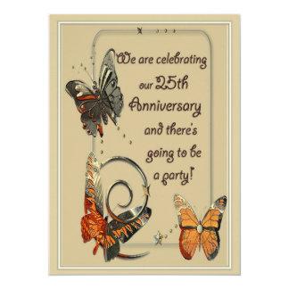 """Casual 25th Anniversary Invitations 5.5"""" X 7.5"""" Invitation Card"""