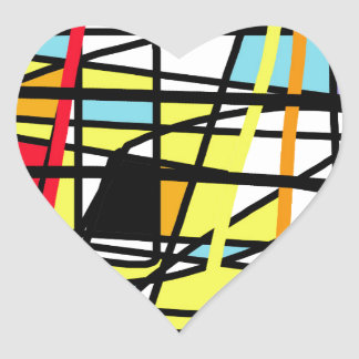 Casual abstraction heart sticker