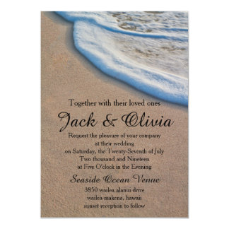 Casual Beach Sand Sea Foam Wedding 13 Cm X 18 Cm Invitation Card