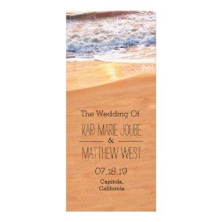 Casual Beach Wedding Program Personalized Rack Card