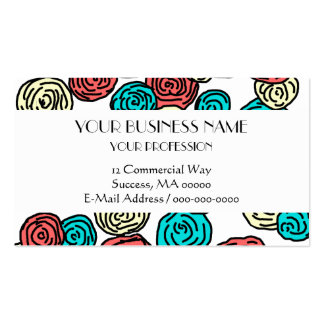 Casual Colorful Flowers Pack Of Standard Business Cards