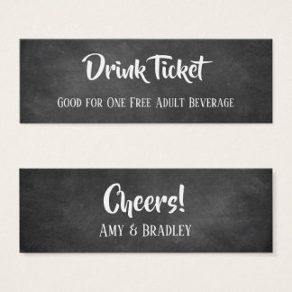 Casual Drink Tickets in White Over Chalkboard