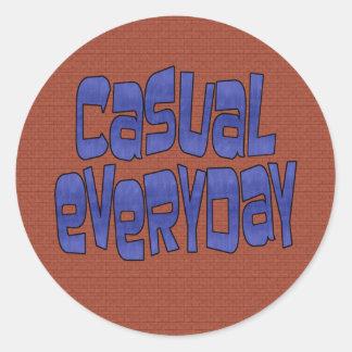 casual everyday round sticker