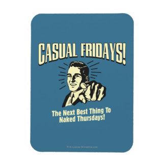 Casual Fridays: Naked Thursdays Magnet