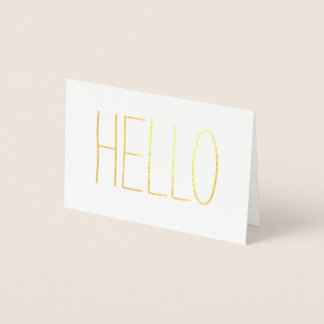 Casual Gold Hello Foil Card