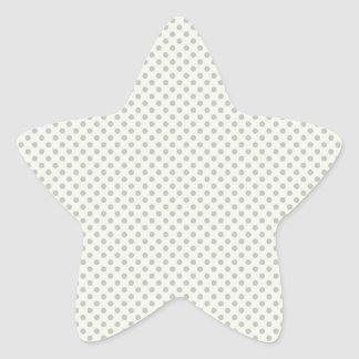 Casual Gray Dot Pattern Star Sticker