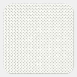 Casual Gray Dot Pattern Square Sticker