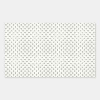 Casual Gray Dot Pattern Rectangular Sticker