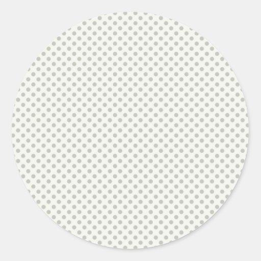 Casual Gray Dot Pattern Round Sticker