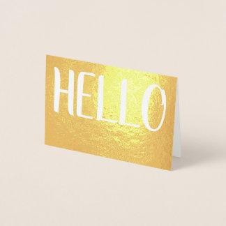 Casual Hello Foil Card