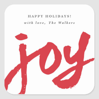 Casual joy holiday gift tag sticker