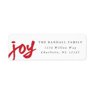 Casual joy | Holiday return address label