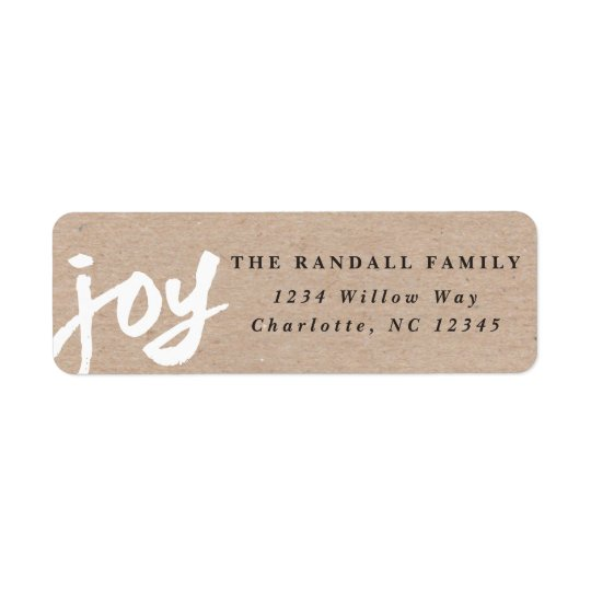 Casual joy | Holiday return address label