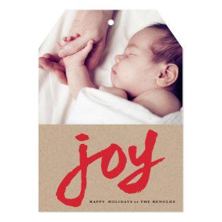 Casual Joy Kraft Holiday Card | 5x7 Invitation Tag