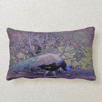 Casual Peacock Lumbar Cushion