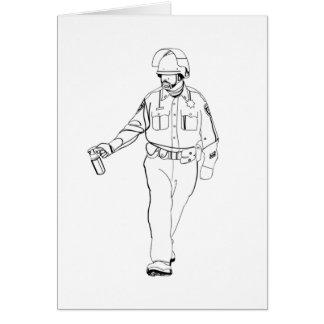 Casual Pepper Spray Cop Card
