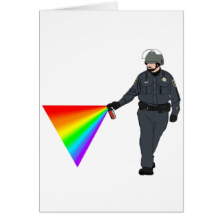 Casual Pepper Spray Cop Rainbow With Color Card