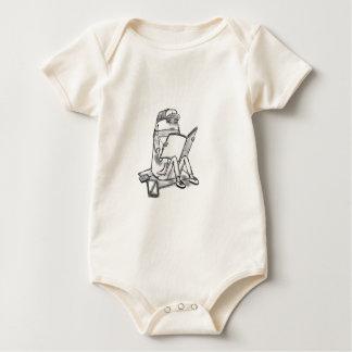 Casual reader baby bodysuit