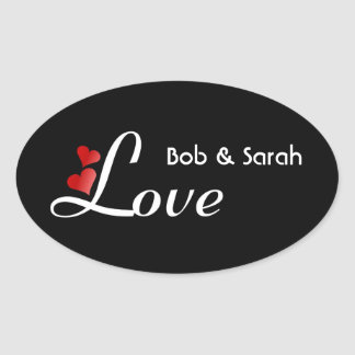 Casual Save The Date Love Sticker on Black