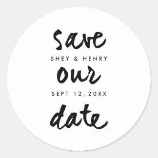 Casual script | Save the date sticker