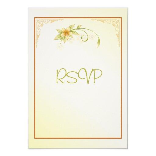 Casual Spring Floral RSVP Wedding Invitation